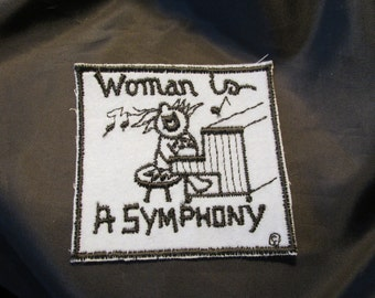 Woman Is A Symphony Sew On Patch