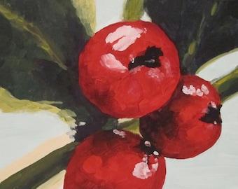 Print: Red Winter Berries