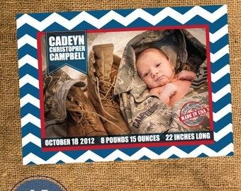 Military Birth Announcement - Baby Boy