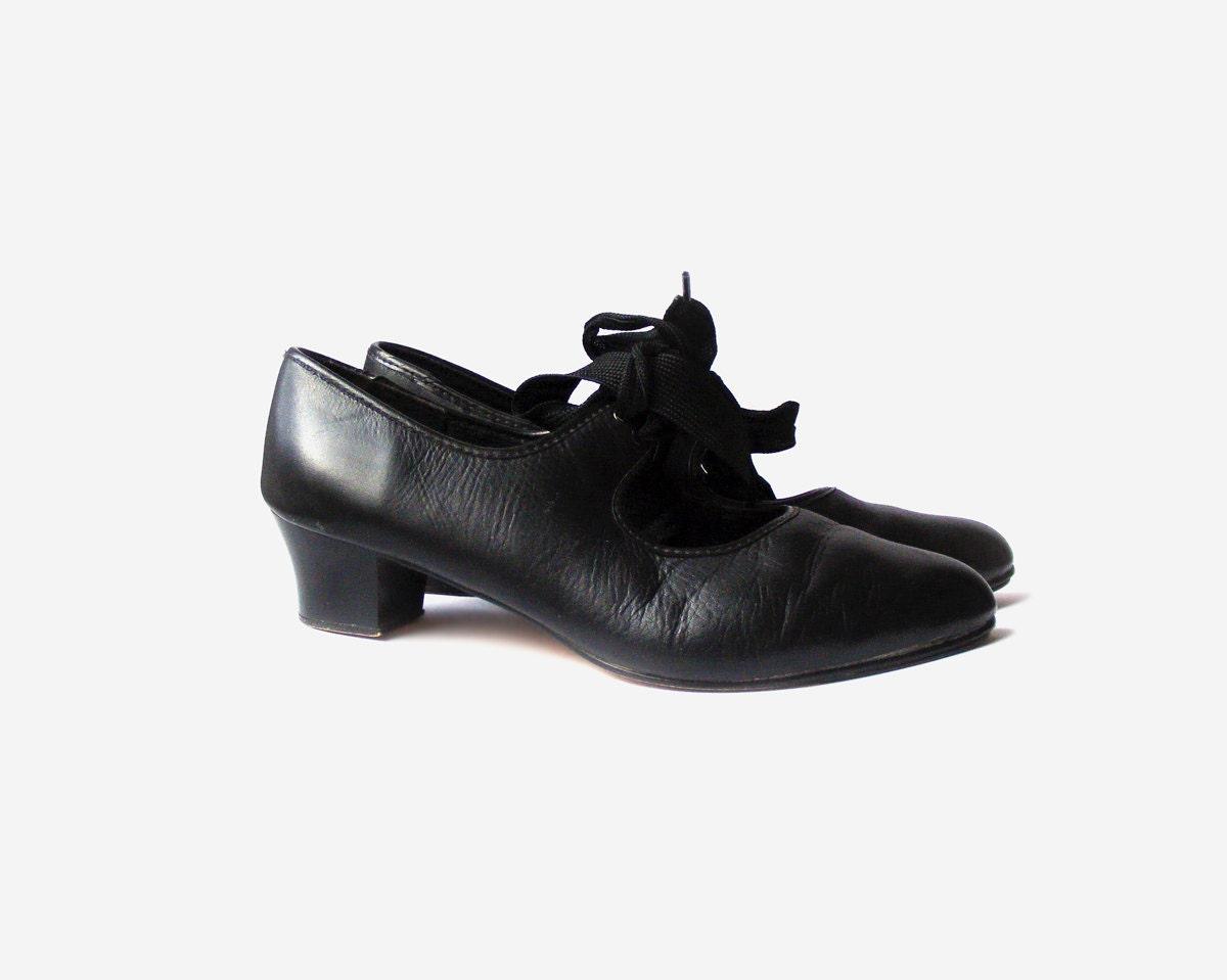 black tap shoes vintage womens shoes us