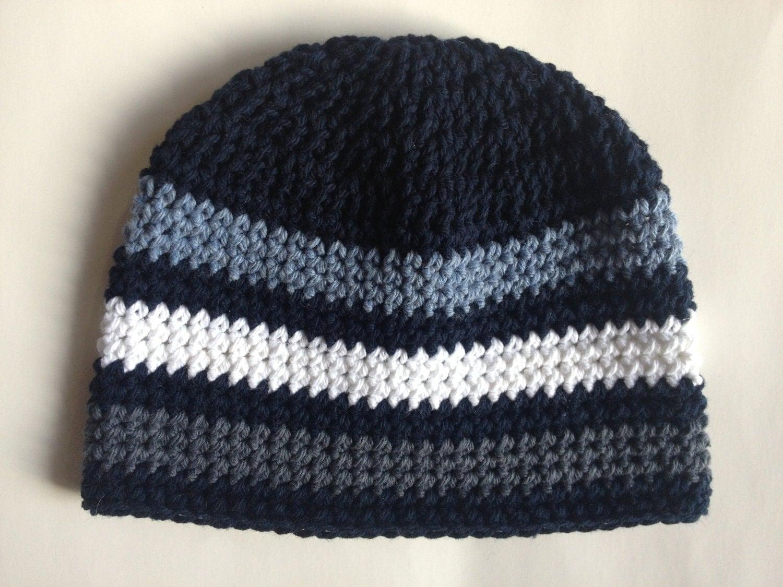 SALE Striped Beanie Hat Crochet Pattern PDF by BabyBopProps