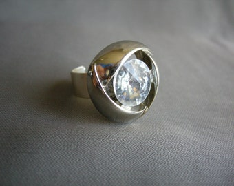 Big and Beautiful - upcycled button ring