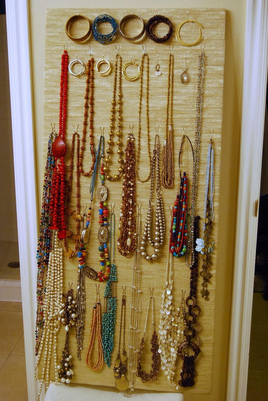Jewelry Organizer Closet Door Or Wall By Purpledotpatternshop