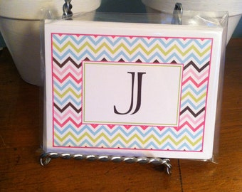Personalized note cards: chevron or diamond
