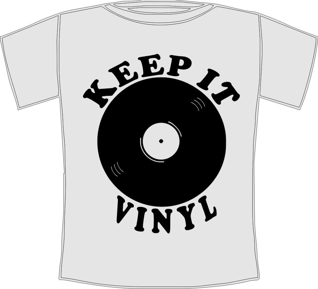Retro Keep It Vinyl Cool Music T Shirt Sizes Small