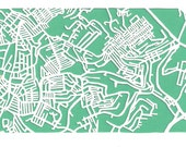 Crafton/West End Pittsburgh -- cut paper map (original)