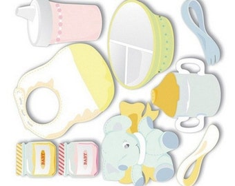 New - Jolees Boutique Dimensional Stickers Babys Learning to Eat 8pcs