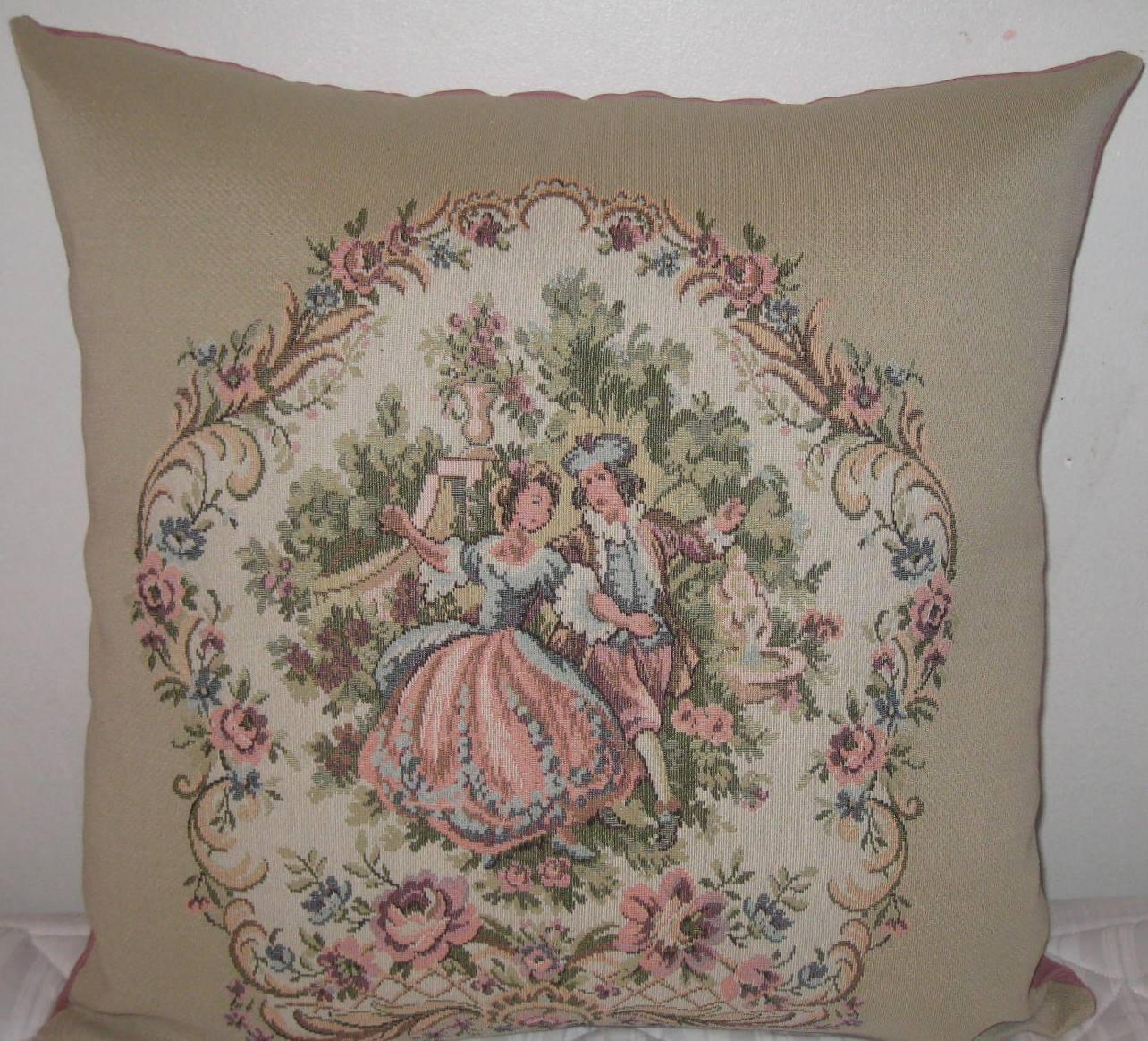 Victoria pattern decorative pillow cover-20x20