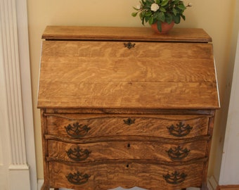 SOLD**Fabulous Refinished Antique Drop-Front  Desk