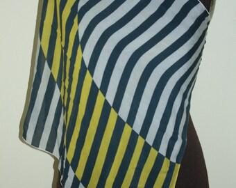 Vintage Vera Sheer graphic scarf