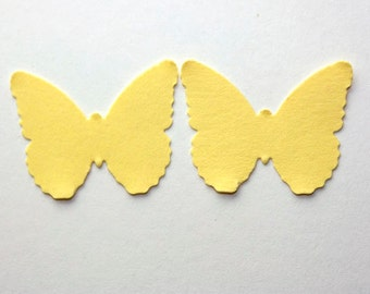 100 Yellow Butterfly Confetti, Die Cut Confetti, Birthday Party Decor, Baby Shower, Confetti, Party Decor, Embellishments, Paper Punch