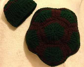 Baby Turtle shell & hat Photo Prop