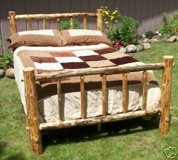 queen size complete rustic standard style by countrylogfurniture. Black Bedroom Furniture Sets. Home Design Ideas