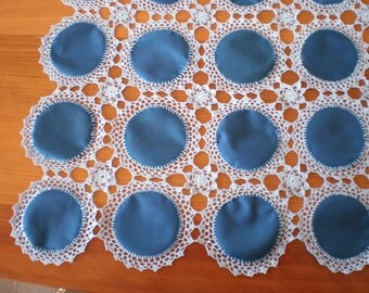 Crocheted Round Fabric Pieces