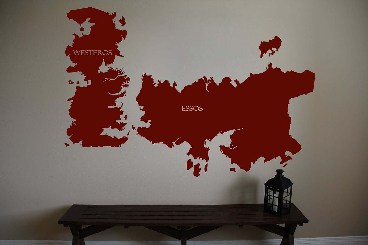 Game of thrones world map westeros essos by for Decoration murale game of thrones