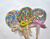 Wrapped Miniature Lollipops (Set of 3)