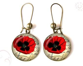 Poppy earrings