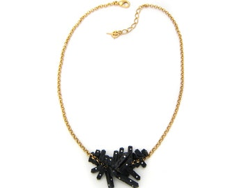 """Necklace gold and bronze """"Crystallizing"""""""