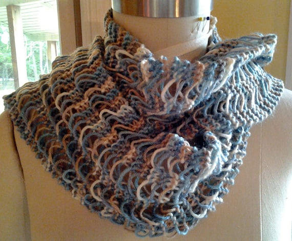 Knitting Pattern For Waterfall Scarf : Waterfall Scarf