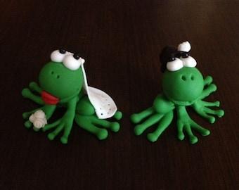 Frog toppers / wedding toppers / frog wedding toppers / frog / frog clip art / frog cupcake topper / frog cake topper / safari topper