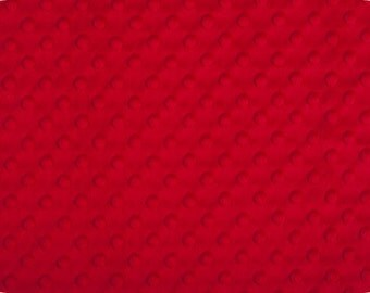 Red Minky Fabric - 1 yard