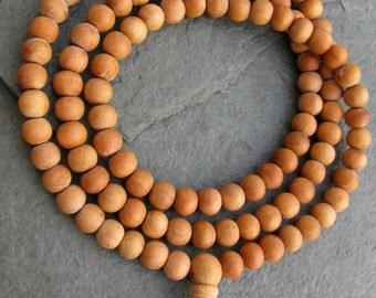 Tibetan Natural wood Japa Mala 108 beads mala purified & blessed