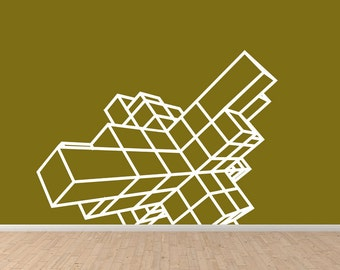 3D Cubes - Wall Decal