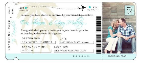 DIY Airline Ticket Invitation