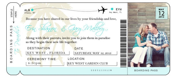 DIY Airline Ticket Invitation – Airplane Ticket Invitations
