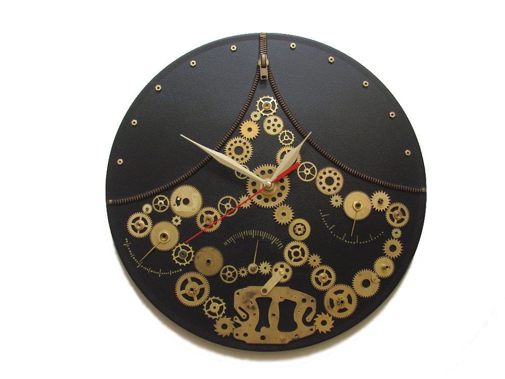 Wall Clock Steampunk Fantasy Exclusive Gift Unique Wall