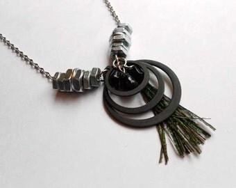 Split Ring Pendant Necklace