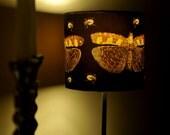 Designer art print lamp, butterfly and bug motif  .