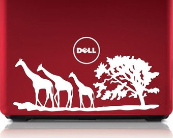 3 Giraffes Safari Laptop Sticker Decal nice cute modern