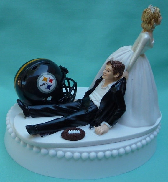 pittsburgh steelers wedding cake topper wedding cake topper pittsburgh steelers football themed w 18624