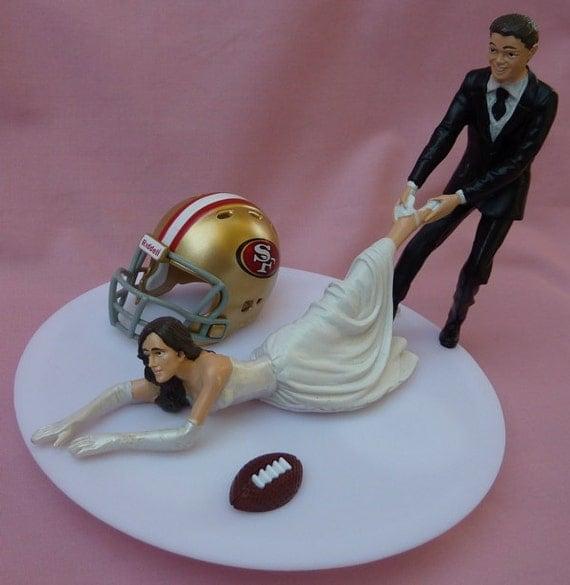 Wedding Cake Topper San Francisco 49ers SF G Football By WedSet