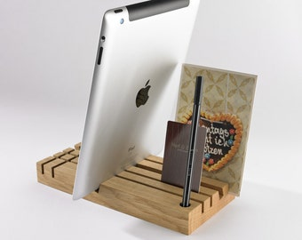TOBAGO OAK - desk organizer & tablet stand
