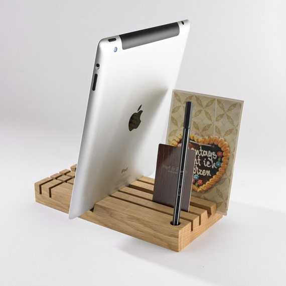 Oak Desk Organizer ~ Tobago oak desk organizer tablet stand