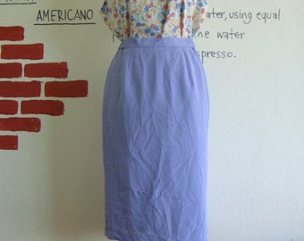 Vintage sweet lavender Purple High waist Pencil skirt sale 9 usd