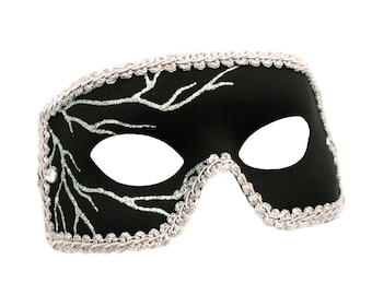 Black Lightning Men's Masquerade Mask -  A-1131-E  Many Great Colors.