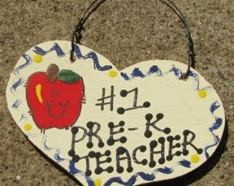 Teacher Gifts Number one 803 Pre-K Teacher