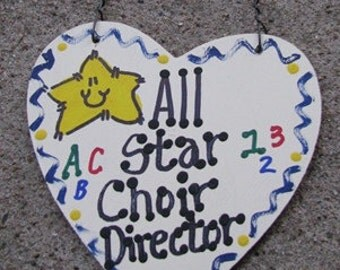 Teacher Gifts All Star Choir Director handmade