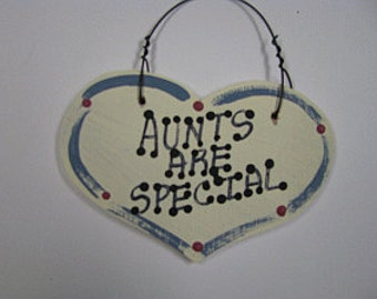 Wooden Grandmother Small Heart Aunts Are Special