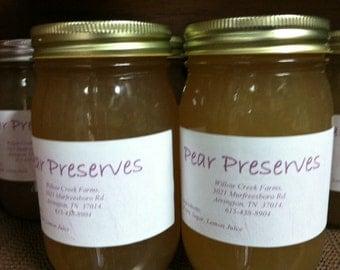 Pear Preserves Homemade