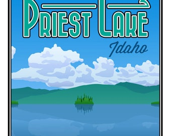 "Priest Lake, ID Poster Print - Large (16"" x 20"")"