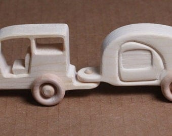 Handcrafted Jeep and Trailer 110