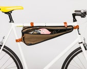 Bike Frame Bag in Weather-proof Canvas