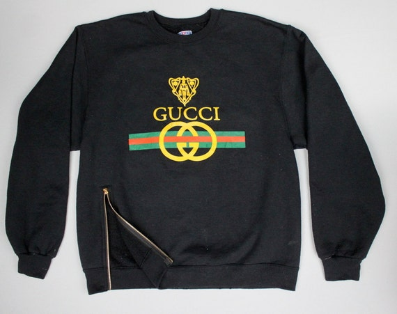 items similar to vintage gucci sweatshirt classic logo. Black Bedroom Furniture Sets. Home Design Ideas