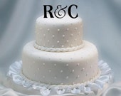 Monogram 2 Initials with Ampersand  Wedding Cake Topper - two letter monogram wedding cake topper - mongram cake topper - letter cake topper