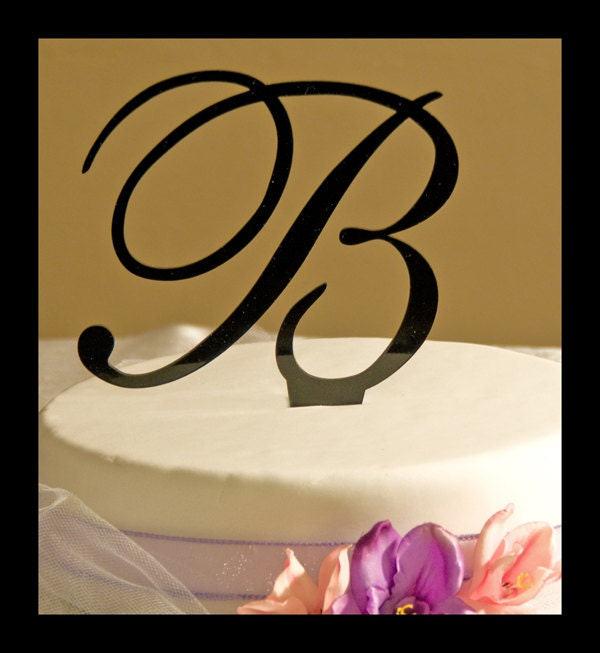 wedding cake topper monogram initials monogram initial wedding cake topper by caketopperconnection 8808