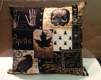"Gothic - Halloween Throw/Accent Pillows (set of 2) - Pillows inspired by Edgar Allan Poe's ""The Raven"" - Nevermore"
